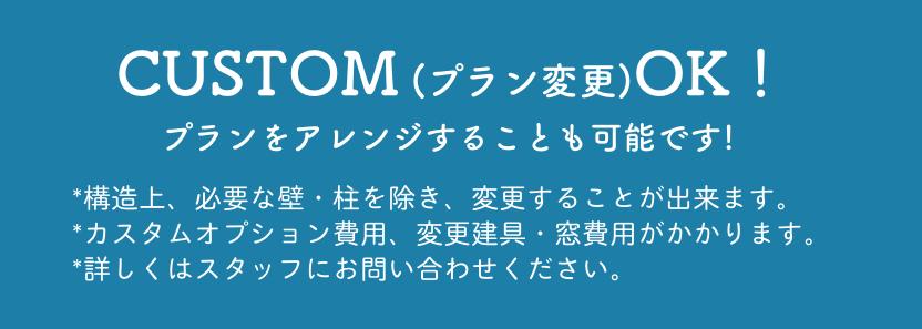 CUSTOM(プラン変更)OK!